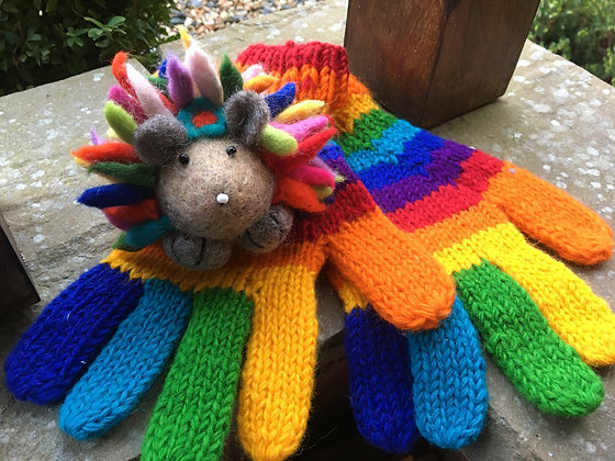 Felt Rainbow Hedgehog