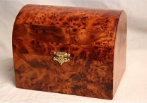 Domed Thuya Wood Chest..