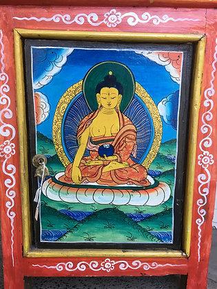 Hand painted Buddha Cabinet