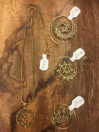 Brass jewellery