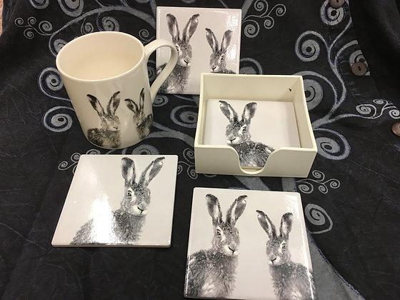 Hare Mug & Coasters
