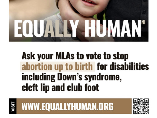 Ask your MLAs to vote to stop abortion up to birth for disabilities