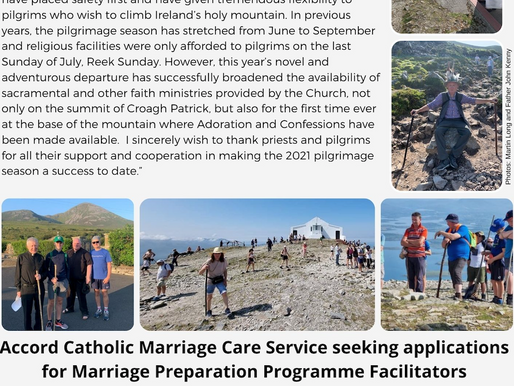 Father Charlie McDonnell thanks priests & pilgrims for supporting the 2021 Croagh Patrick Pilgrimage