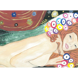 "Shred of ""Water Serpents II"" (Gustav Klimt)"