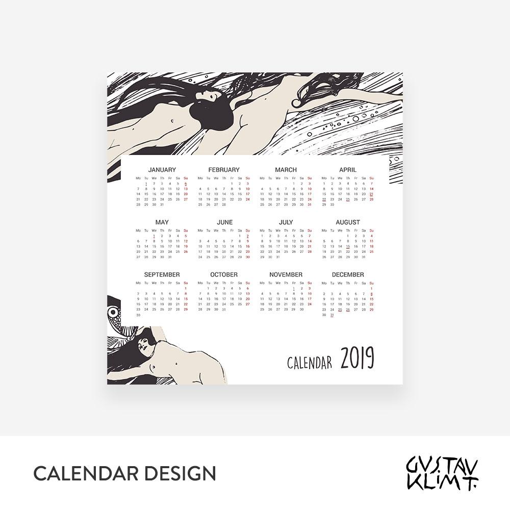 Klimt calendar 2019