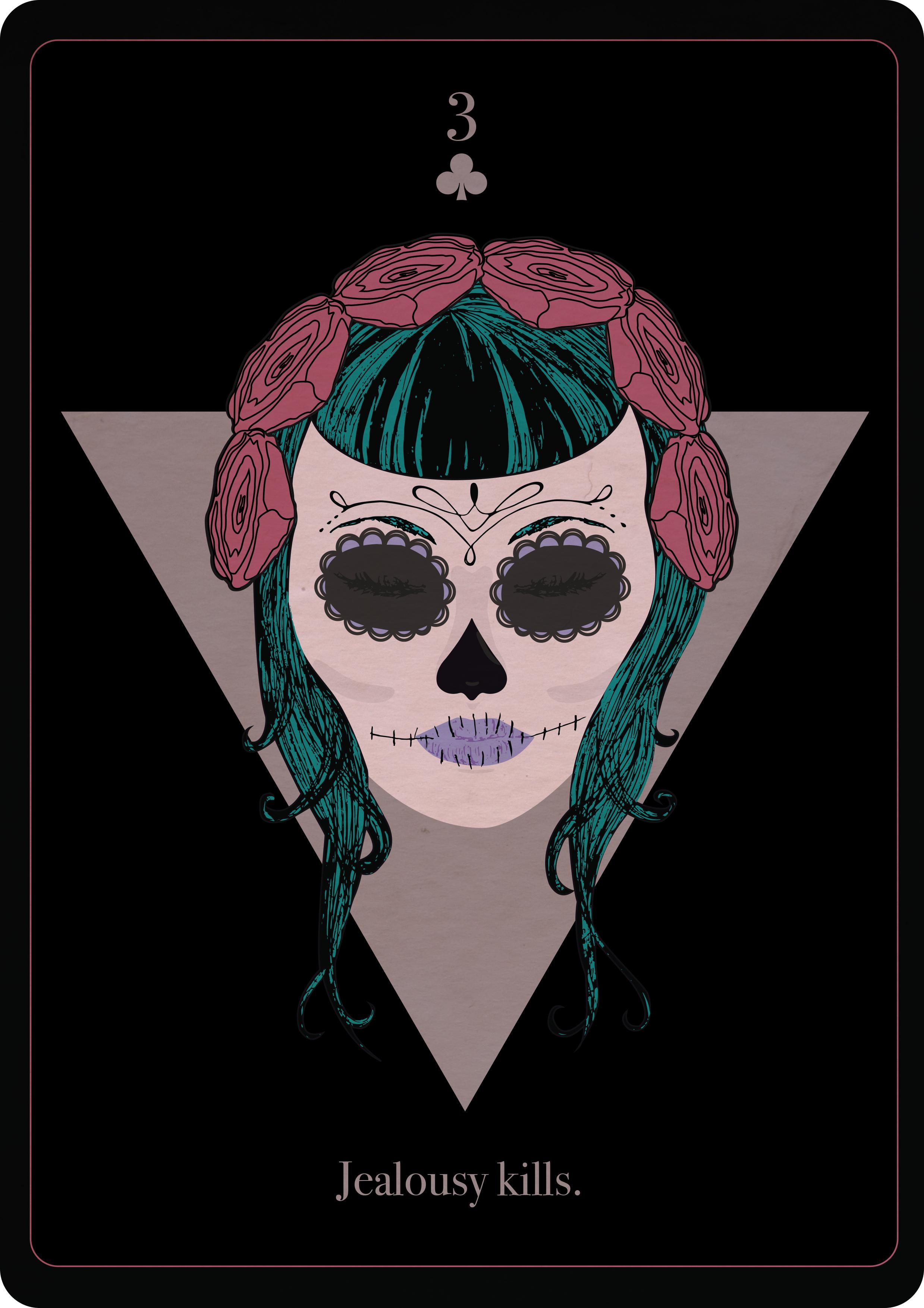 Sacra Muerte Playng Card