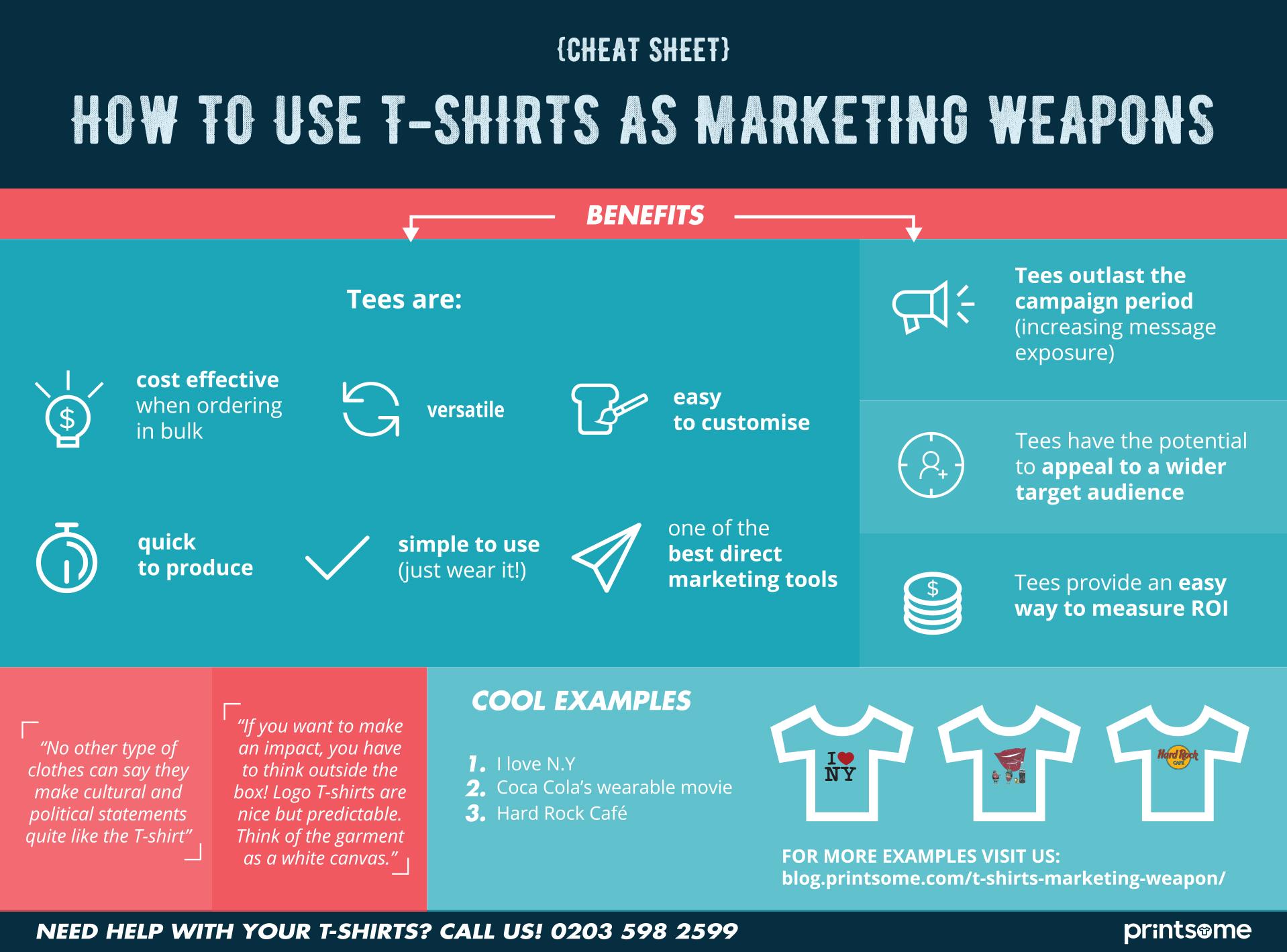 Marketing Weapon T-shirt Cheat Sheet