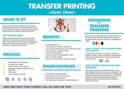 Transfer Printing Cheat Sheet