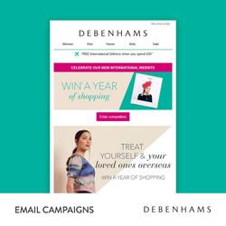 Debenhams Email Campaigns
