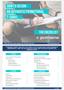 Design Promo T-shirt Checklist