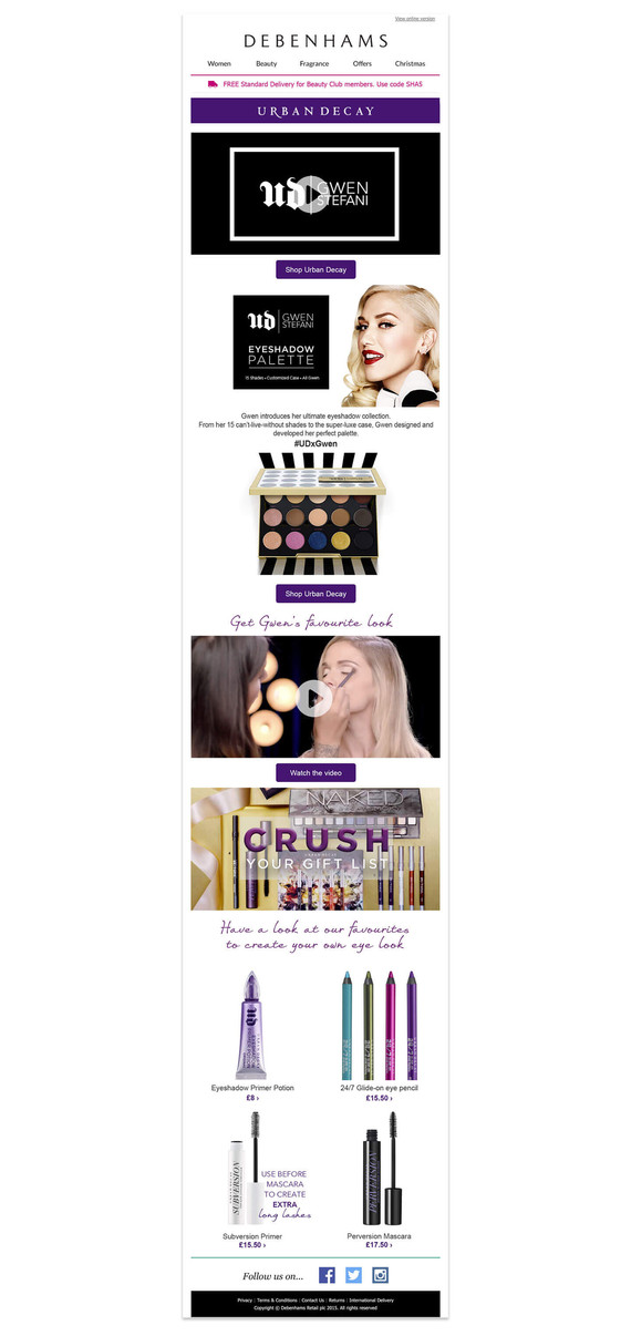 Urban Decay Email Campaign