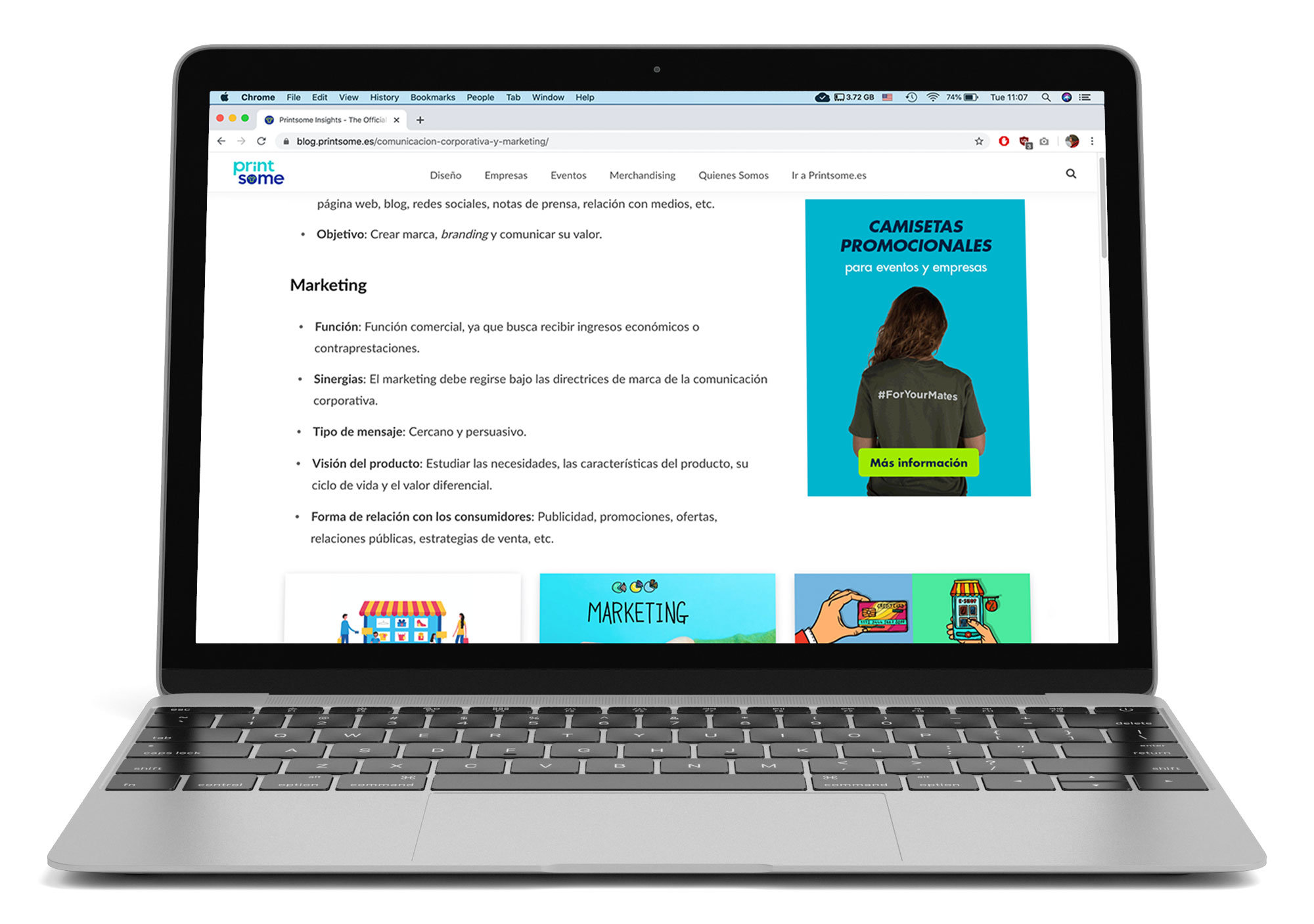 Banner ads as displayed on blog