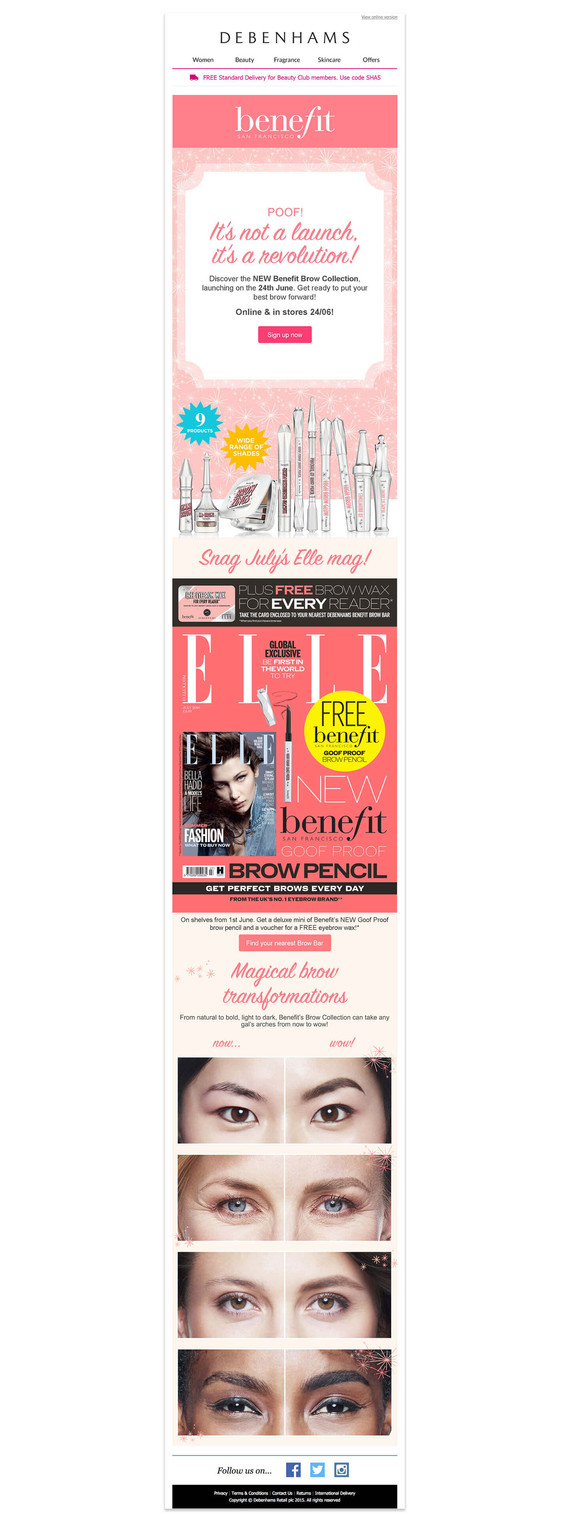 Benefit Email Campaign