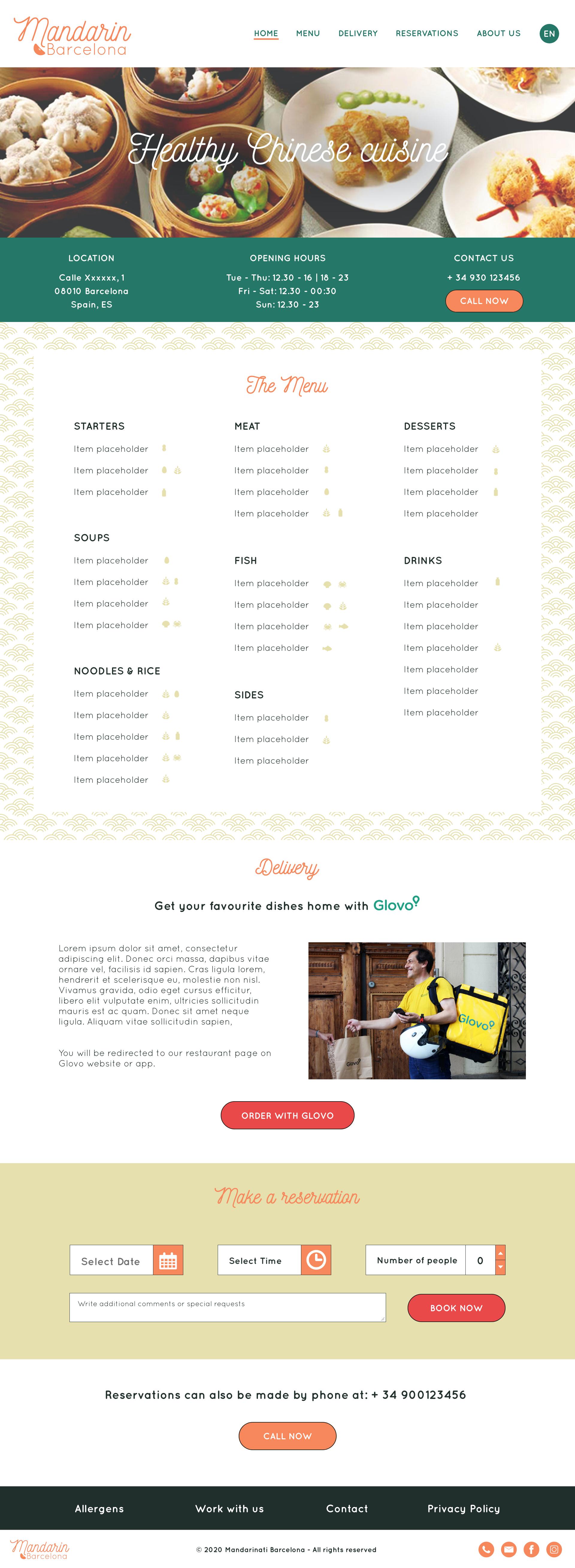 Mandarin Website Homepage