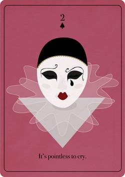Pierrot Playing Card