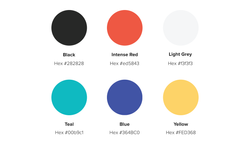 Colour Palette (main & secondary)