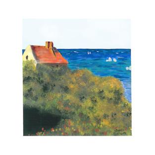 """The Fisherman's House at Varengeville"" (Claude Monet)"