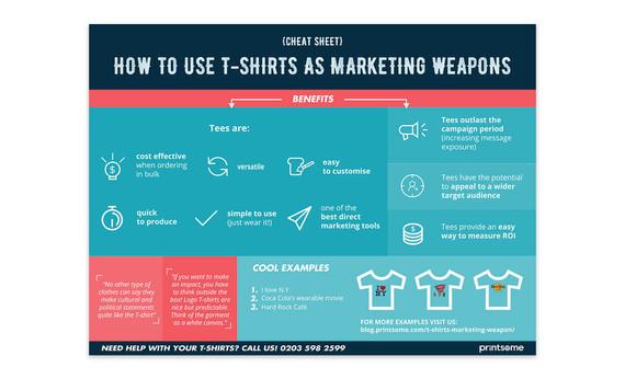 T-shirts As Marketing Weapons - Cheat Sheet