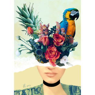 Tropical Head Collage