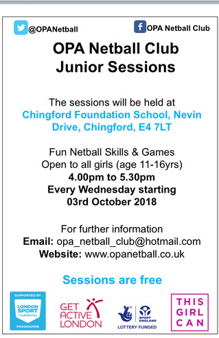 OPA Junior Sessions in Waltham Forest