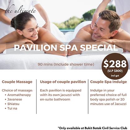 Pavilion Spa Special