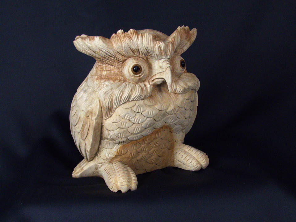 Hand Carved Owl