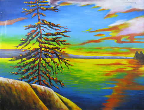 Canadian Colourful Landscape Painting