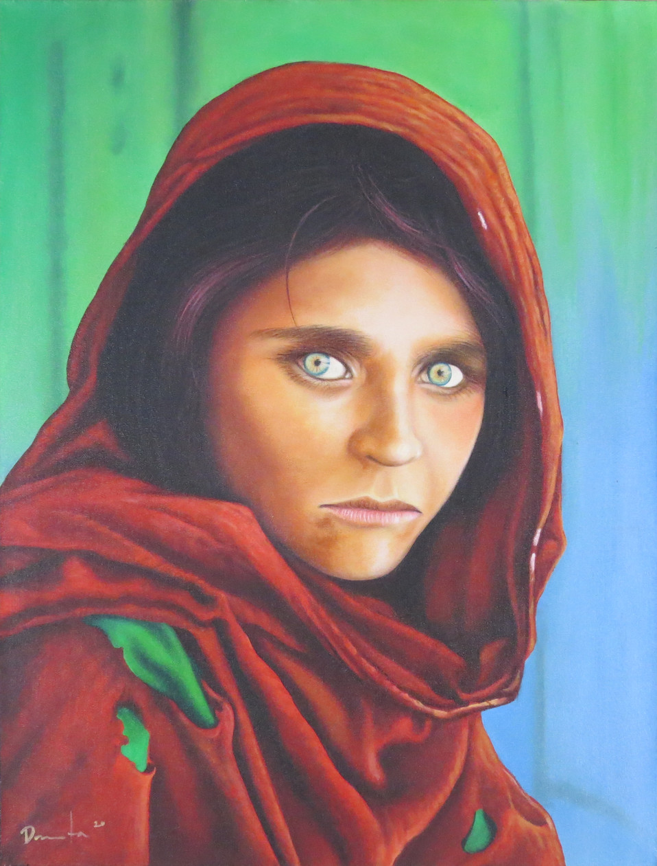 Afghan Girl National Geographic Painting