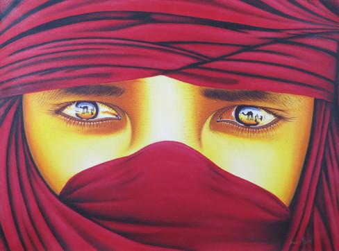 Red Sahara Eyes Painting