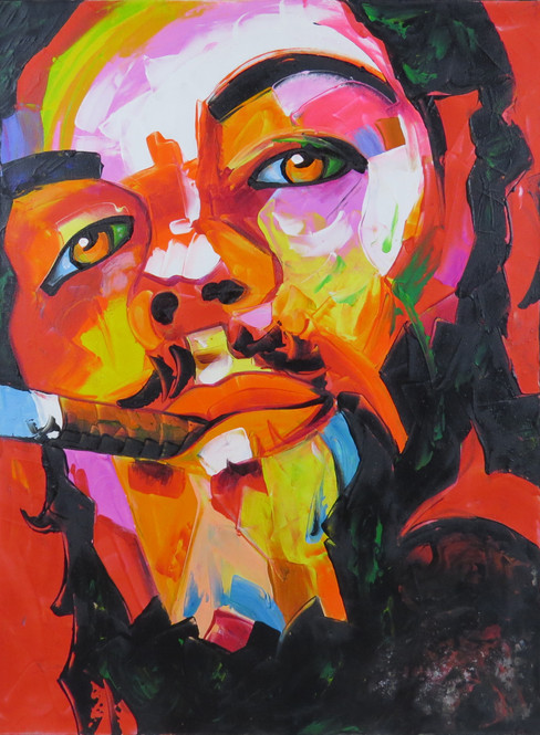 Colourful Che Guevara Painting