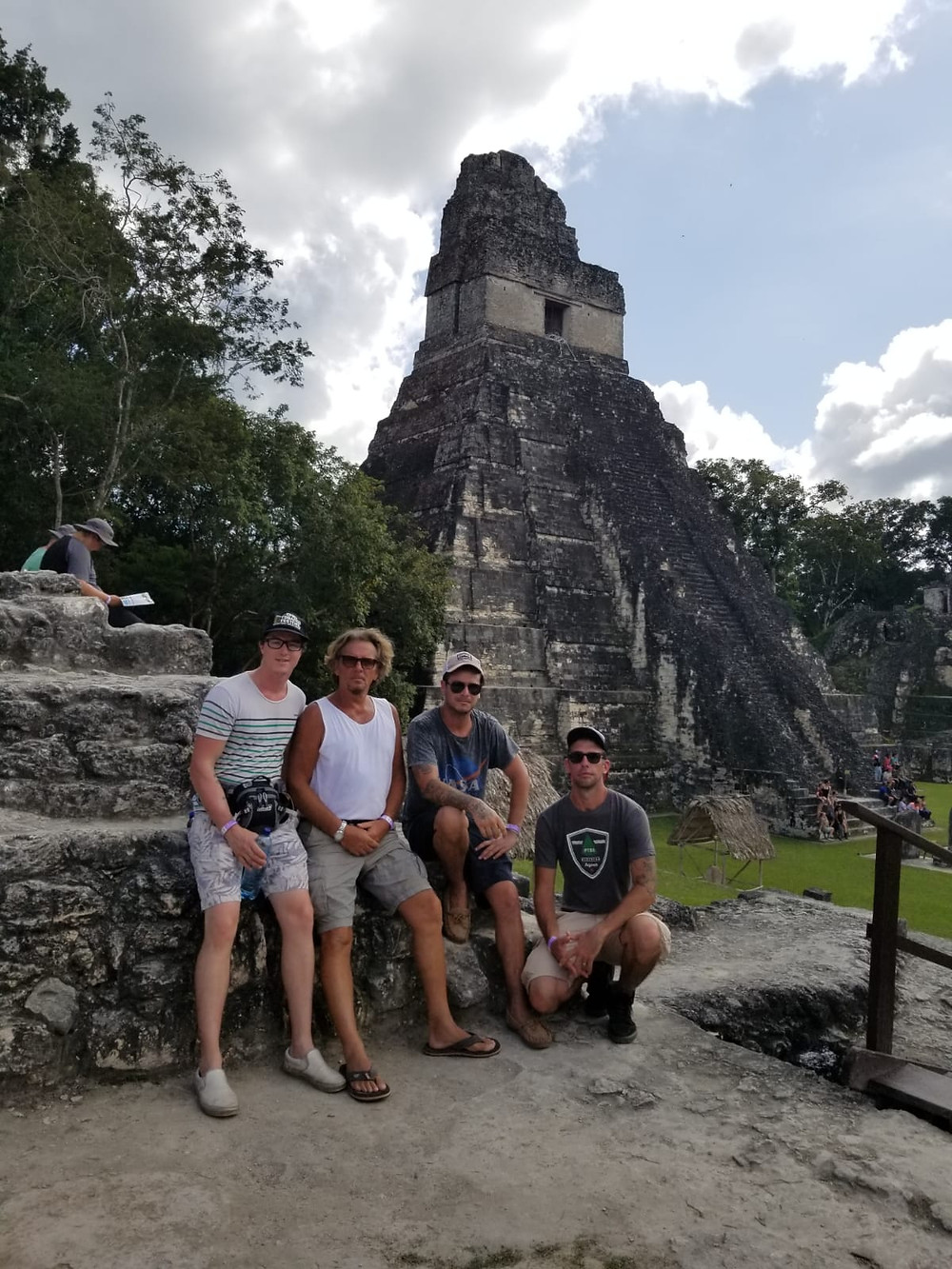 Ron and staff at Ruins in Guatemala