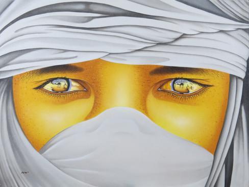 White Sahara Eyes Painting