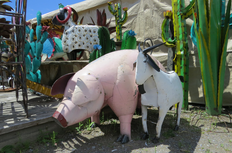 Metal Pig and Goat