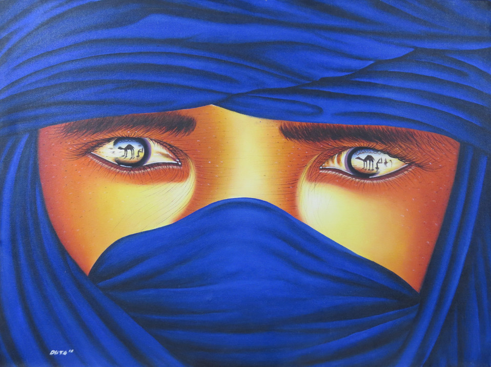 Blue Sahara Eyes Painting