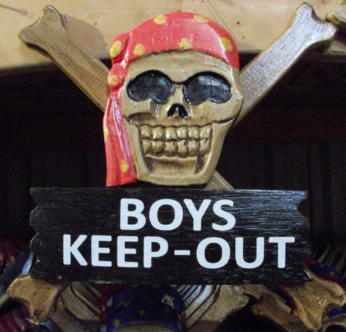 Skull and Cross Bones Boys Keep-Out