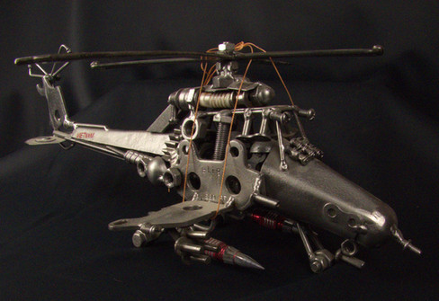 Metal Art Helicopter