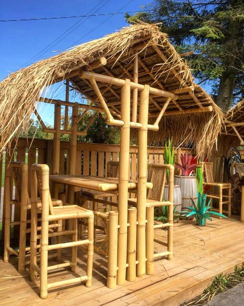 4 seater bamboo bar