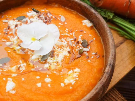 Soupe froide de carottes pei et pépino
