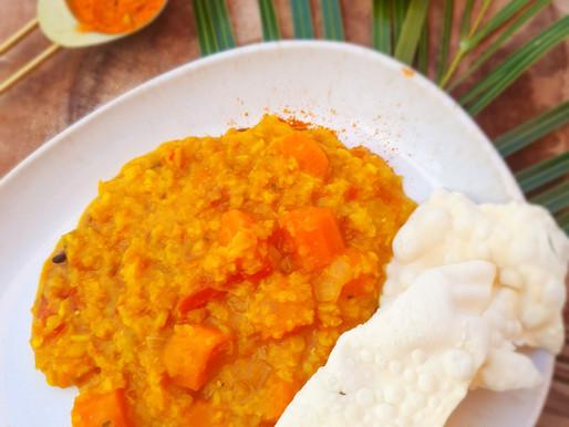 Dhal  de lentilles corail aux carottes