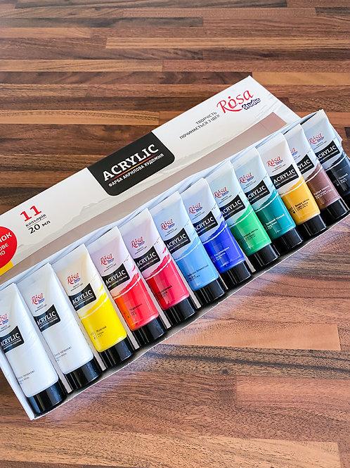 Sada akrylové farby ROSA Studio 12x20ml