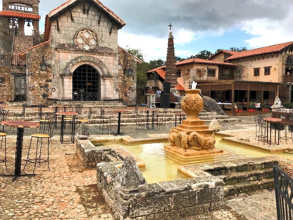 monastery, church, architecture, casa de campo, dominican republic, caribbean, water fountain, concourse,