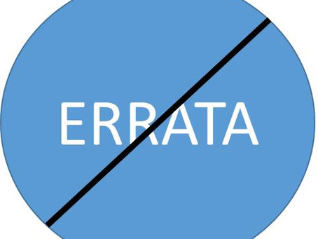 "Errata Rant Episode 2 The ""Reprint"""
