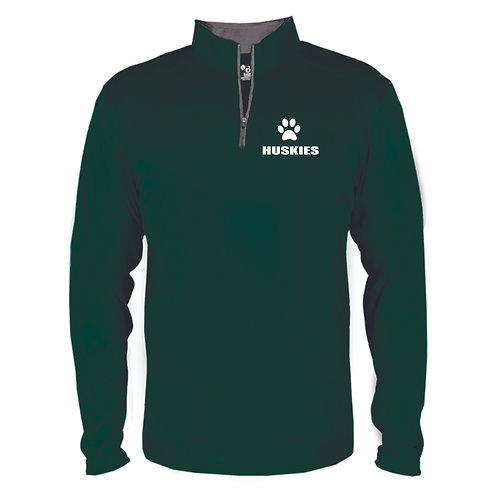 B-Core Quarter-Zip Pullover with embroidered logo