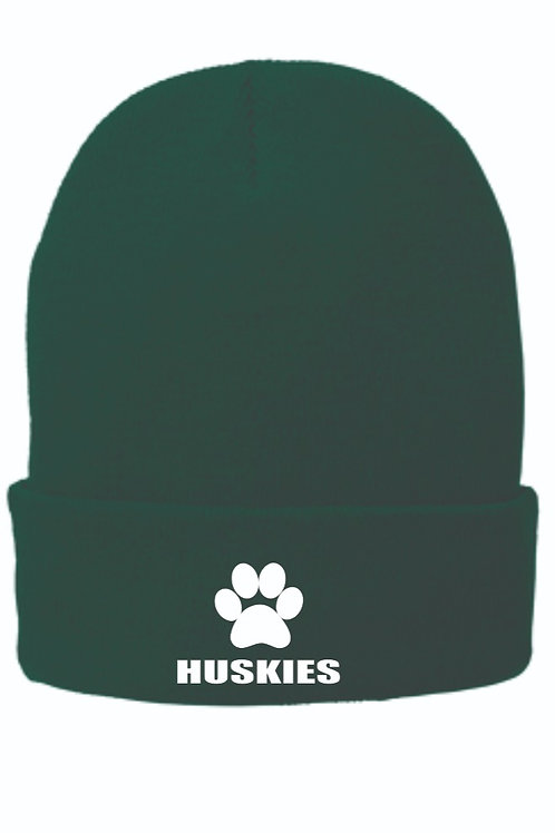 Monadnock Husky Fleece-Lined Knit Cap with embroidered logo
