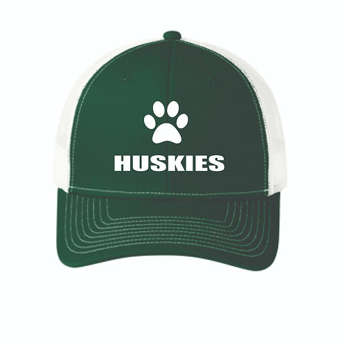 Snapback Trucker hat with embroidered Huskies Logo