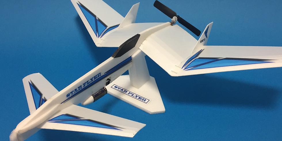 電動紙飛行機を作ろう