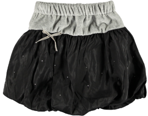 2177H - Velvet skirt - Grey / black