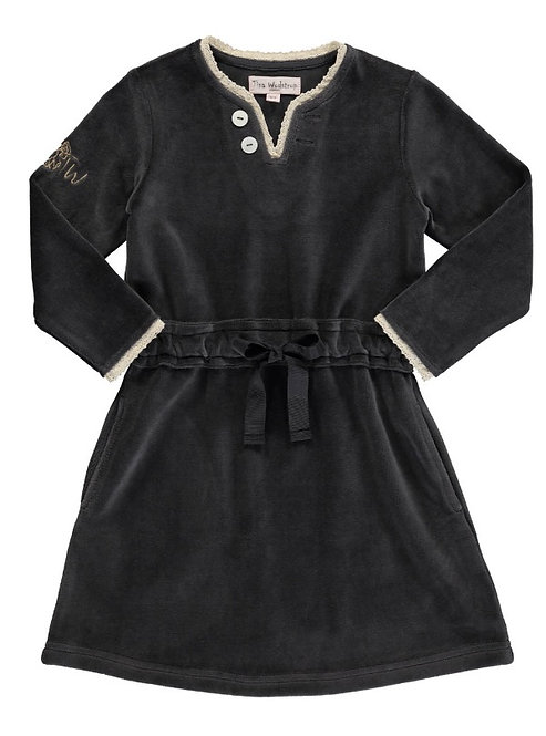 2835K - Velvet dress - Granit grey