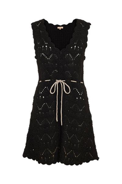 2238 - Long wool waistcoat - Black