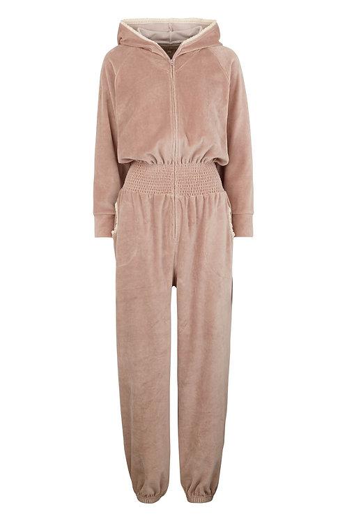 3446C - Velvet Jump suit - Rosa